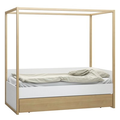 4YOU 4 POSTER SINGLE BED with Adjustable Height Levels