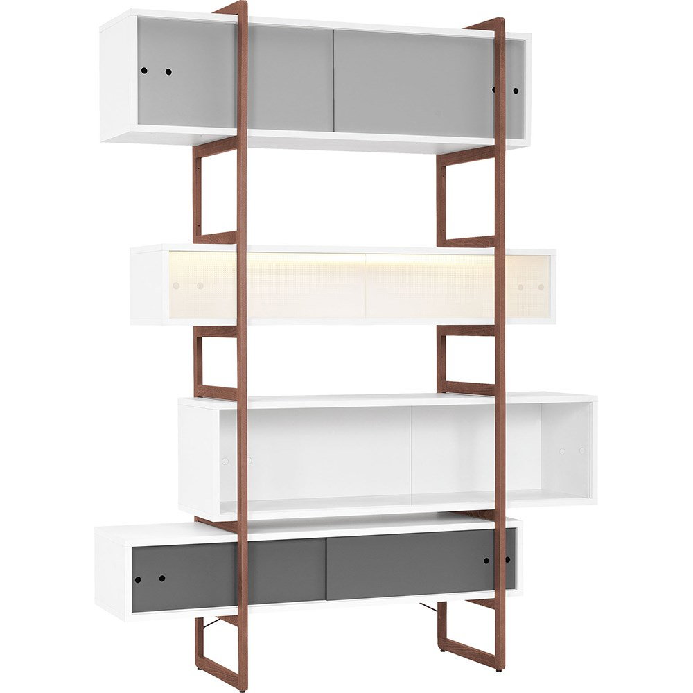 Vox Mio Bookcase Storage Unit With Sliding Doors Vox Cuckooland