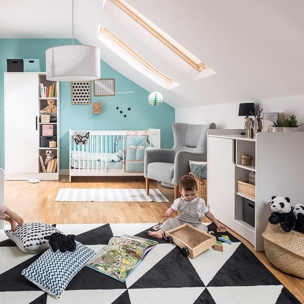 Vox Maxim Cot Bed 3 Piece Nursery Set in White