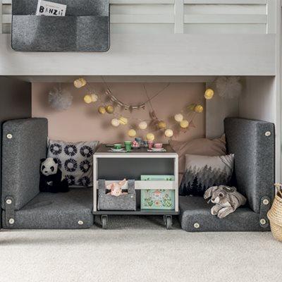 NEST CABIN BED HANGING ORGANISER in Grey