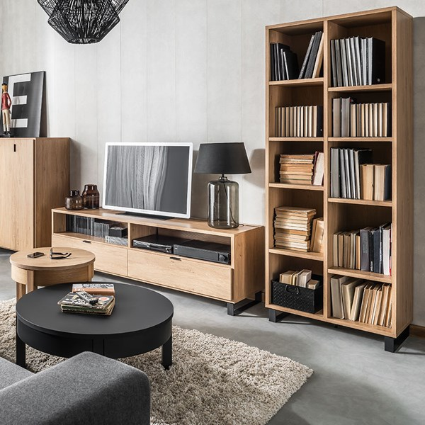 Vox Simple Narrow Double Bookcase