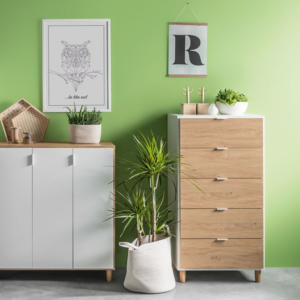 Vox Simple Narrow Chest of Drawers