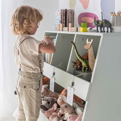 Vox Tuli Bookcase & Toy Storage in Pastel Green