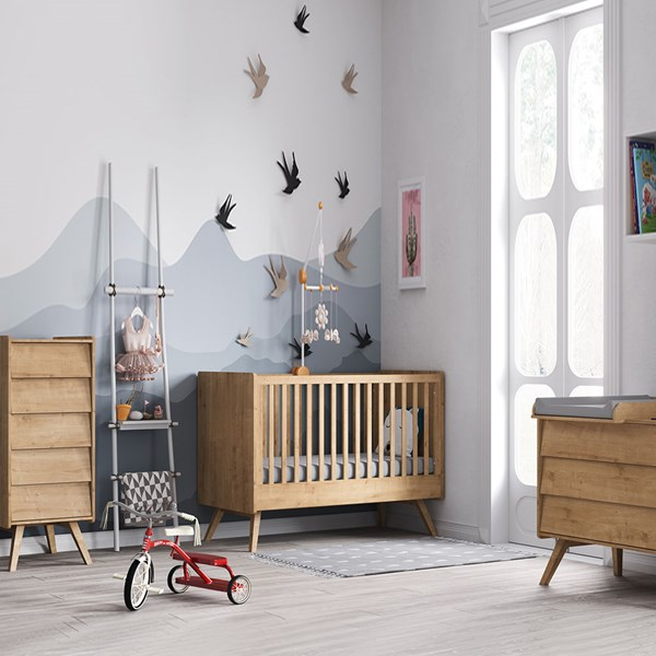 Vox Vintage Cot Bed 3 Piece Nursery Set