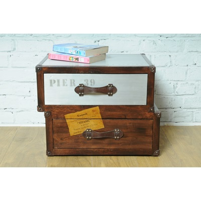 Quirky Bedside Tables voyager trunk bedside table - side & coffee tables | cuckooland