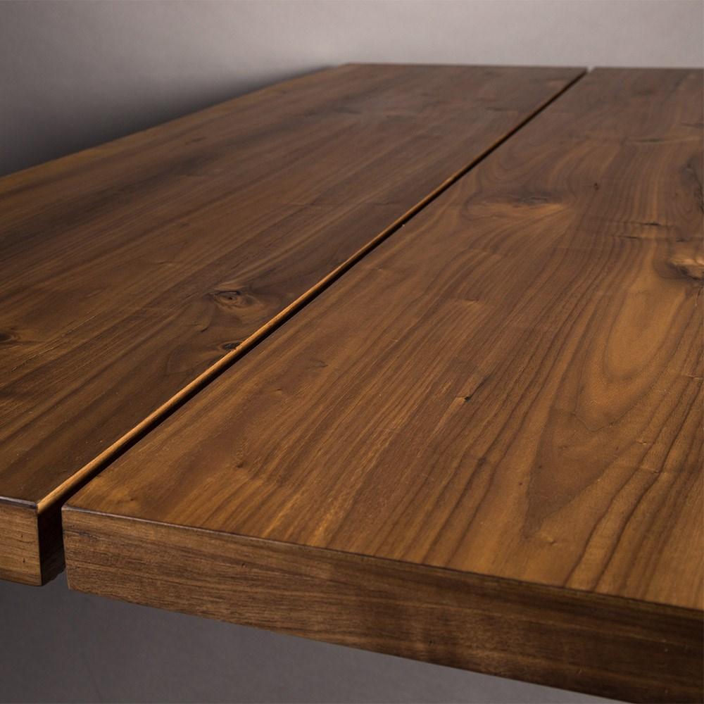 Rustic Style Walnut Veneered Table