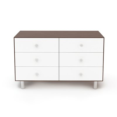 Oeuf Classic 6 Drawer Dresser in White & Walnut