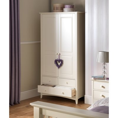 CHILDRENS COMBINATION WARDROBE in Stone White Finish
