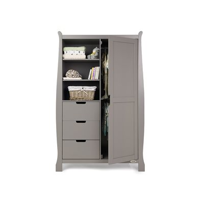 STAMFORD DOUBLE WARDROBE in Taupe Grey by Obaby