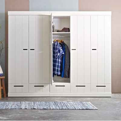 CONNECT Contemporary 2 Door Wardrobe with Storage in White