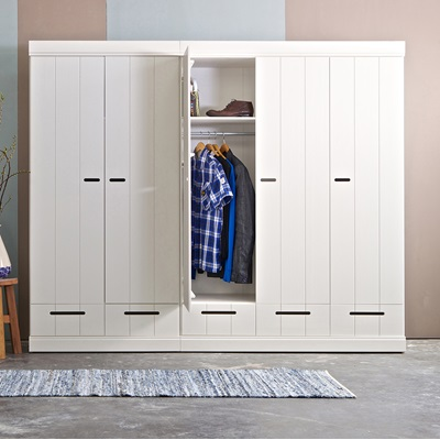 CONNECT Contemporary 2 Door Cupboard Cabinet With Storage in White