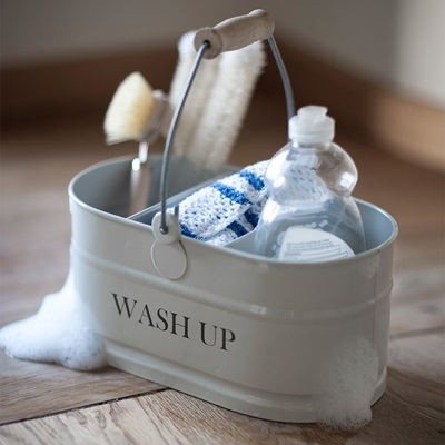 GARDEN TRADING WASH-UP TIDY STORAGE CONTAINER in Chalk