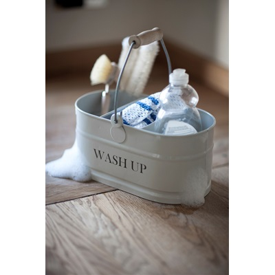 WASH-UP TIDY STORAGE CONTAINER in Chalk by Garden Trading