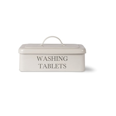 WASHING TABLET BOX in Chalk by Garden Trading