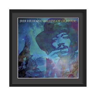 JIMI HENDRIX FRAMED ALBUM WALL ART in Valleys of Neptune Print