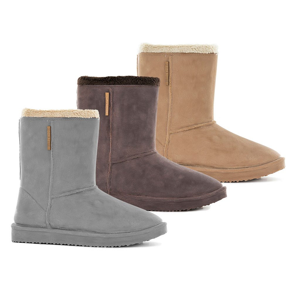 énorme réduction f0db4 e9b6b Waterproof Sheepskin Style Ladies Snug-Boot Wellies in Grey