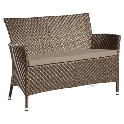 WAVE 4FT BENCH WITH CUSHION by Alexander Rose