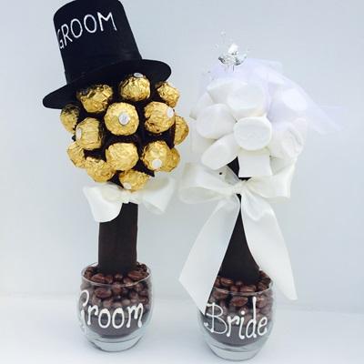 CHOCOLATE PERSONALISED WEDDING CENTREPIECE