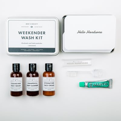 MEN'S SOCIETY WEEKENDER TRAVEL WASH KIT