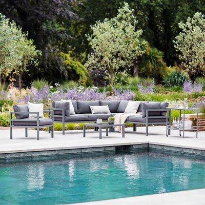 GARDEN TRADING WEST STRAND OUTDOOR CORNER SOFA SET