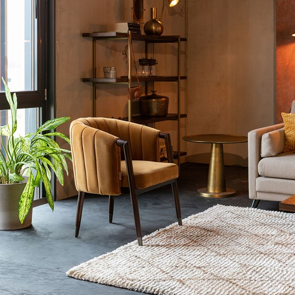 Retro Style Armchair in Velvet