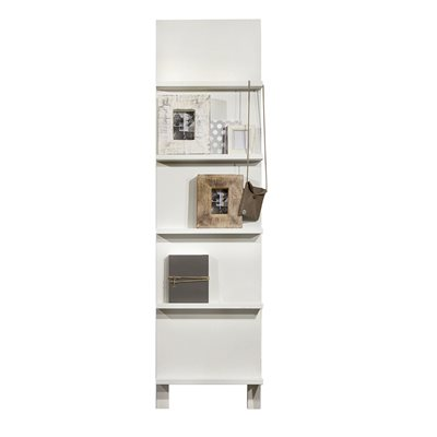 CONTEMPORARY 5 SHELF DISPLAY UNIT in White