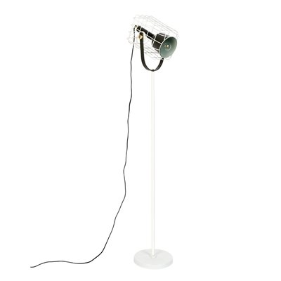 Image of Cage Floor Lamp in White