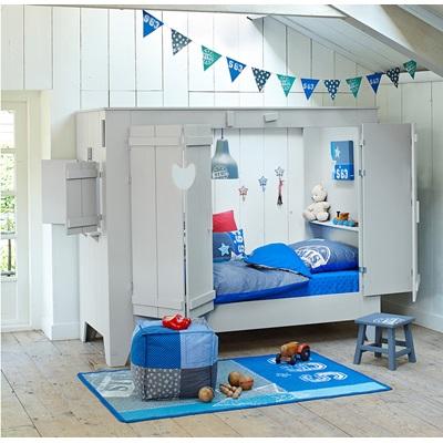 Kids Cupboard Style Cabin Bed Amp Folding Doors Cuckooland