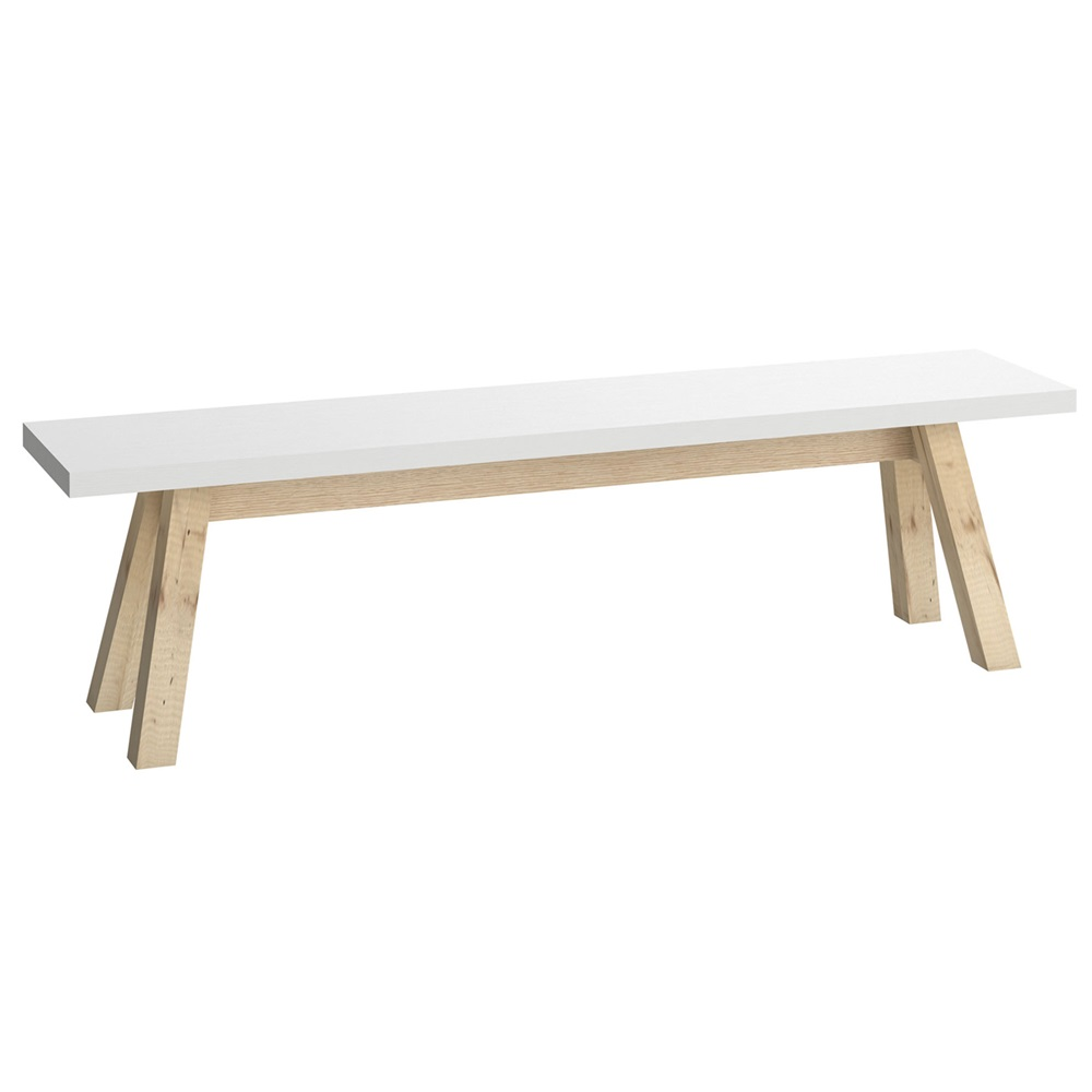 you dining bench in white  dining chairs  cuckooland -  whitediningbench