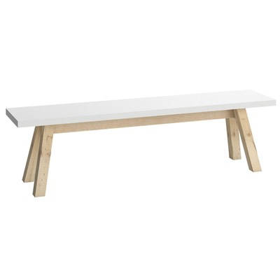 Unique Modern Dining Bench In White
