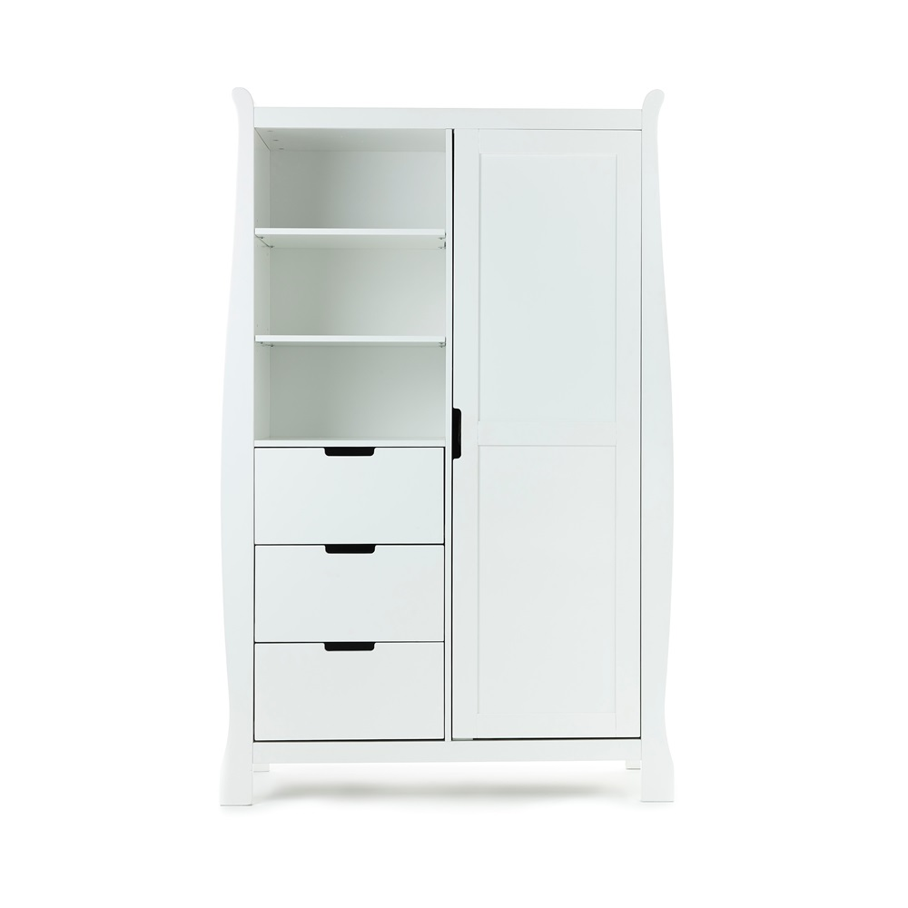 White Double Wardrobe With Storage Jpg