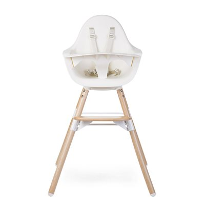 2 in 1 Evolu One.80º High Chair in White