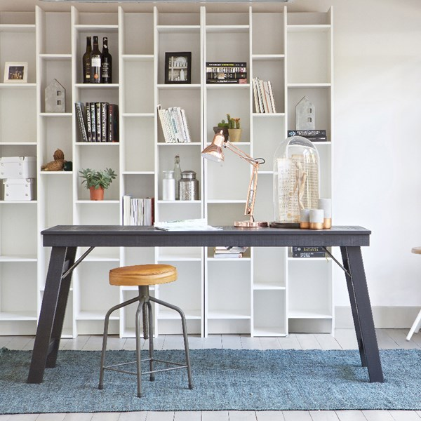 Large White Open Bookcase