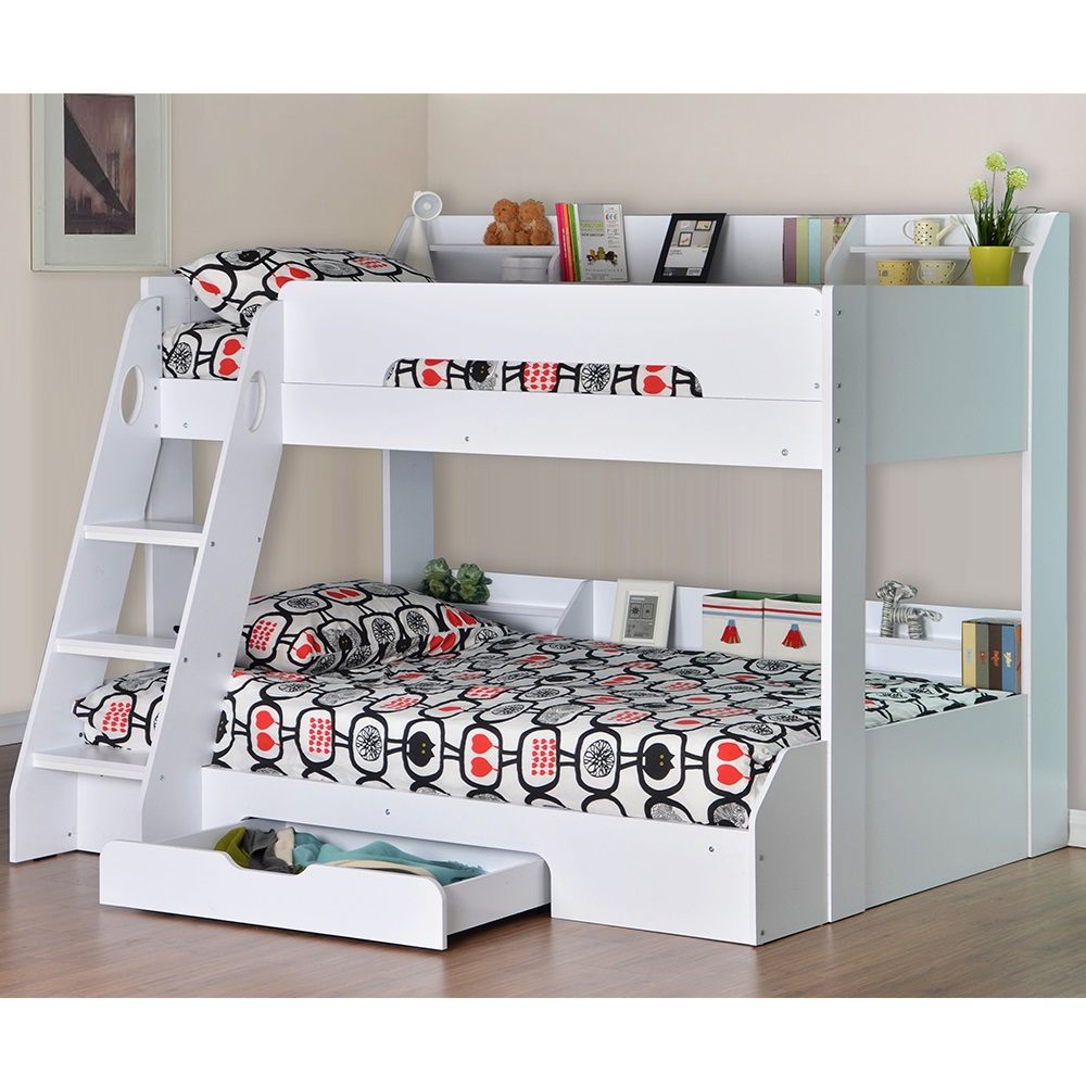 White Flick Triple Bunk Bed