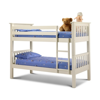 KIDS PINE BUNK BED in Stone White Wash