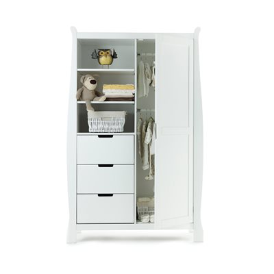OBABY STAMFORD DOUBLE WARDROBE in White