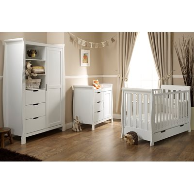 LINCOLN MINI NURSERY ROOM SET in White