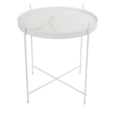ZUIVER CUPID MARBLE SIDE TABLE in White