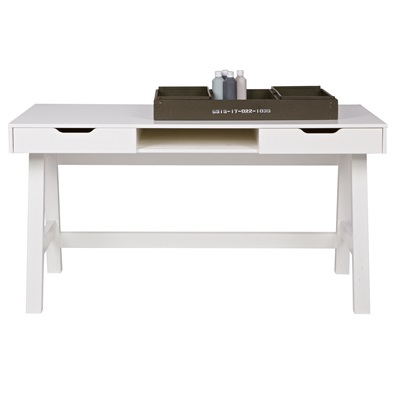 Nikki Computer & Office Desk in White by Woood