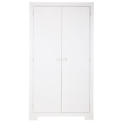 NIKKI WARDROBE WITH STORAGE DRAWER in White