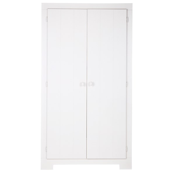 Nikki Kids Wardrobe with Storage Drawer in White