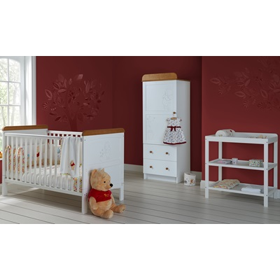 WINNIE THE POOH 3 PIECE NURSERY ROOM SET SINGLE in White