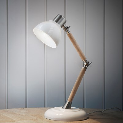 office desk lighting. garden trading ledbury vintage desk lamp in porcelain office desk lighting