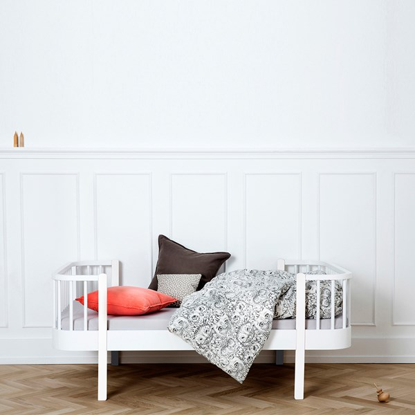 Luxury Wood Toddler Bed in White