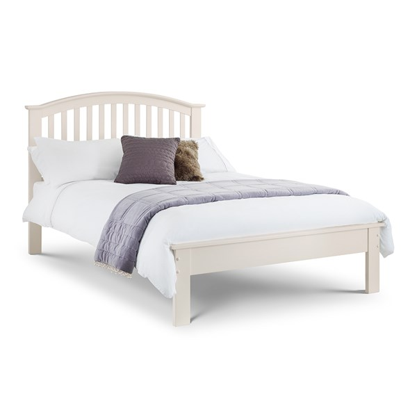 Olivia Double Bed Frame in White by Julian Bowen