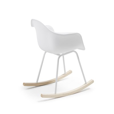 White Plastic Living Room Rocking Chair