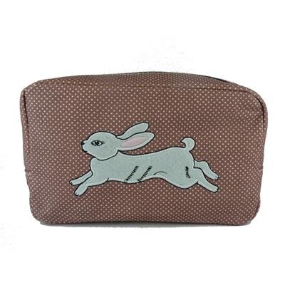 Cosmetic Bag in White Rabbit