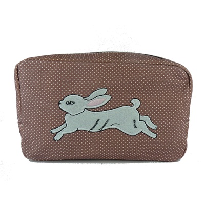 COSMETIC BAG in White Rabbit Design