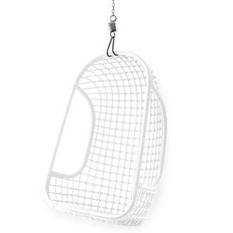 Indoor rattan hanging egg chair in white hanging chairs - Indoor hanging egg chair for bedroom ...