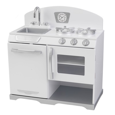 KIDS RETRO STOVE in White
